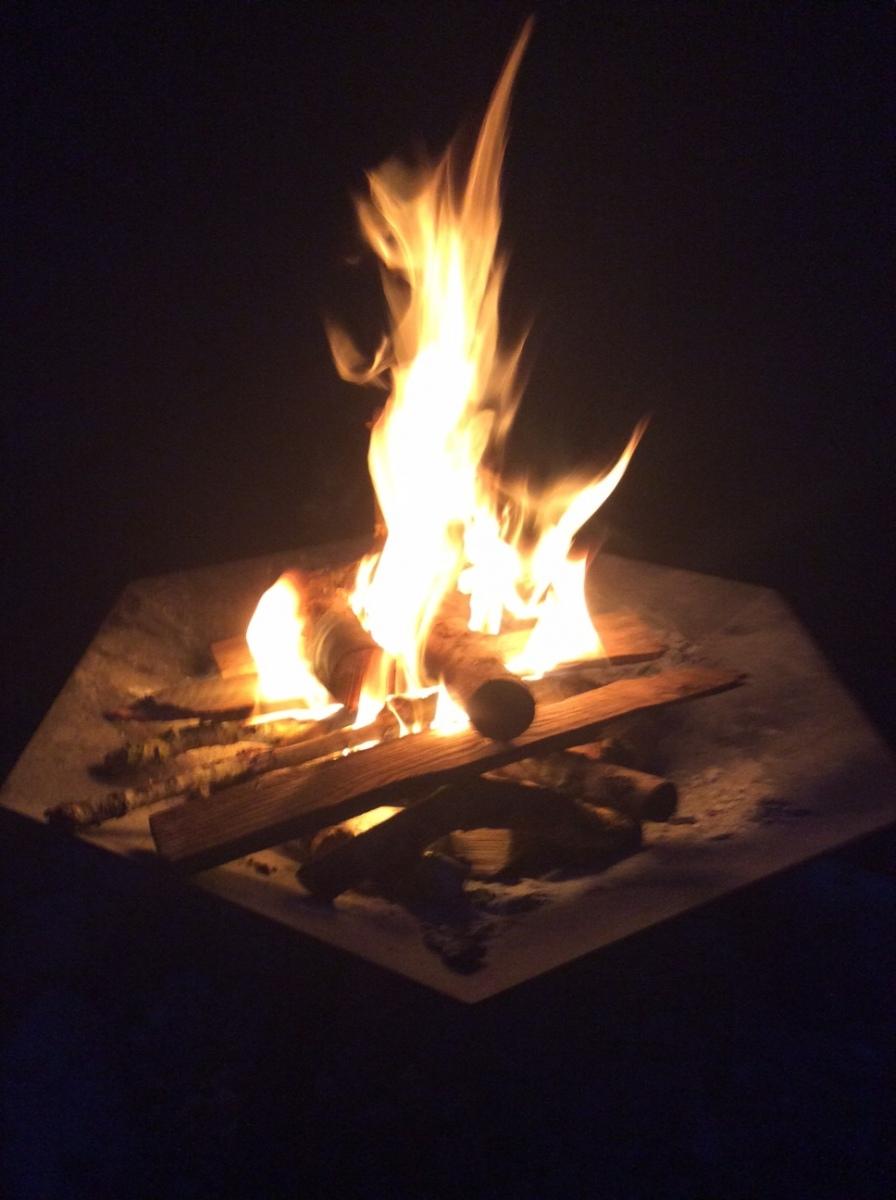 fire pit at wayfarers wood
