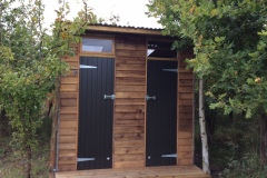 shower and loo cabin in secluded glamping site