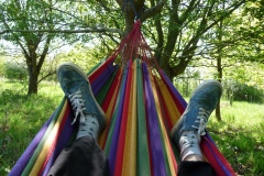 Norfolk shepherds hut hammock