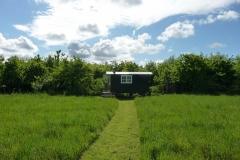 shepherds hut in private glade